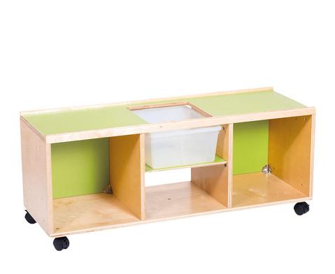 niedrig spiel regal auf rollen. Black Bedroom Furniture Sets. Home Design Ideas
