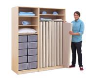 Flexeo Schrank, 10 grosse Boxen, für Liegepolster 140 cm