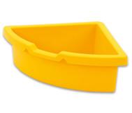 Aufbewahrungsbox, dreieckig - gelb