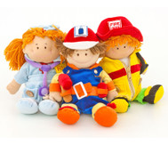 "Puppen ""Berufe"", 3er-Set"