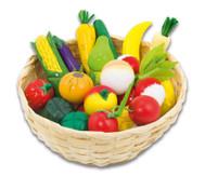 Obst und Gemüse im Korb, 21-teilig