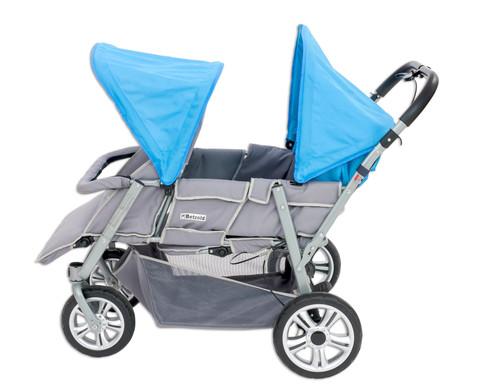 Krippenwagen grau-hellblau-1