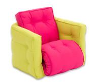 Sessel 'Sedia' mini grün/pink