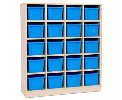 Garderoben-Fachregale CHIPPO mit blauen Boxen-4