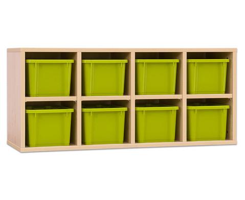 Garderoben-Haengeregale CHIPPO mit gruenen Boxen-4