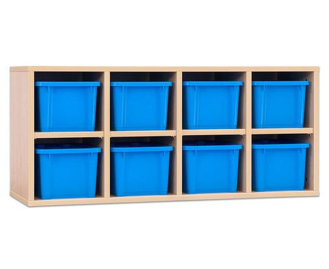 Garderoben-Haengeregale CHIPPO mit blauen Boxen-3