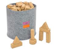 60 Natur-Korxx-Bausteine (verschiedene Formen)