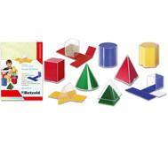 Geometriesatz Körper und Netze plus Farbfolien und Kopiervorlagen