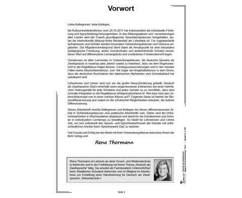 Deutsch als Zweitsprache in Vorbereitungsklassen - Band 5-4