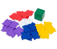 Polydron Satz mit 36 Quadraten