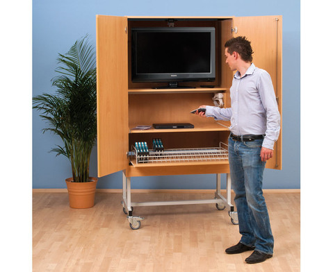 Betzold Fernsehschrank-Set Moviesafe Flat TV Profi
