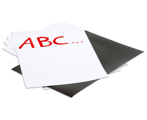 Magnetisches Papier 5 Bogen im Set