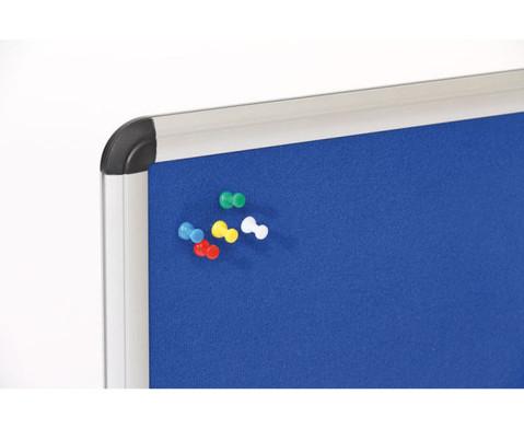 Textiltafel blau mit Alurahmen-2