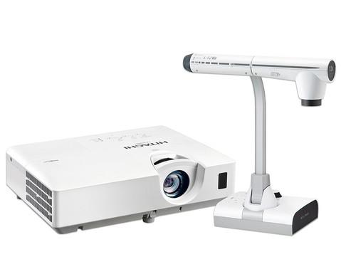 Set Beamer Hitachi CP-EX302N  Objektkamera Elmo L-12iD