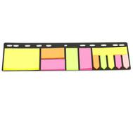 Haftnotiz-Set mit Abheftleiste, Höhe A4, 11 x 25 Blatt