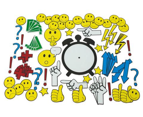 Magnetische Emoticons und Diskussionssymbole fuer die Tafel 91 Teile-1