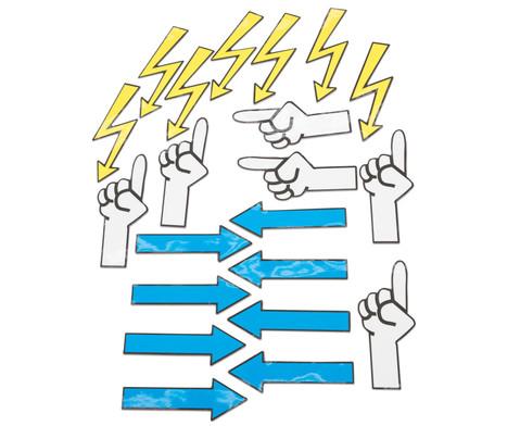 Magnetische Emoticons und Diskussionssymbole fuer die Tafel 91 Teile-5