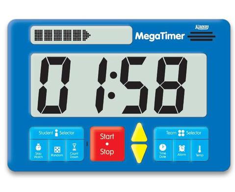 Zeitdauer-Uhr Digital Mega-6