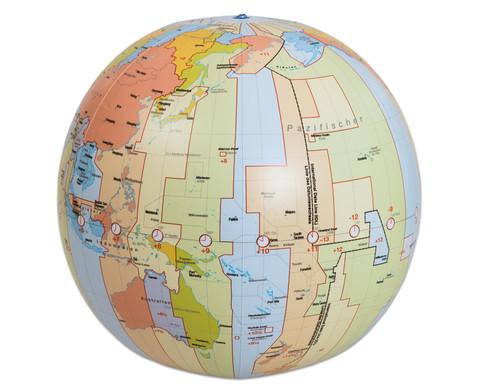Zeitzonenglobus aufblasbar