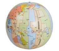 Zeitzonenglobus, aufblasbar