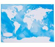 Weltkarten zum Bemalen, 24 Stück