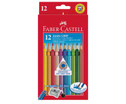 FABER-CASTELL dicke Colour Grip Holzstifte 12 Stueck-1