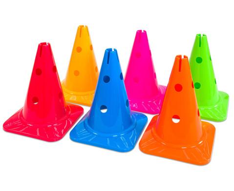 Spielkegel Regenbogenset 6 Stueck-4