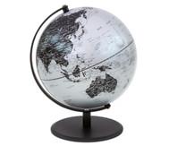 Globus Pluto matt silber, Höhe 30 cm