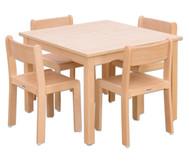 Möbel-Set Quadro Sitzhöhe 34 cm, Tischhöhe 58 cm, Ahorn