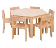 Möbel-Set Trapo Sitzhöhe 26 cm, Tischhöhe 46 cm, Ahorn