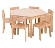 Möbel-Set Trapo Sitzhöhe 34 cm, Tischhöhe 58 cm, Ahorn