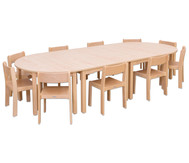 Möbel-Set Bunga, Sitzhöhe 38 cm, Tischhöhe 64 cm, Ahorn