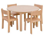 Möbel-Set Rondino Sitzhöhe 34 cm, Tischhöhe 58 cm