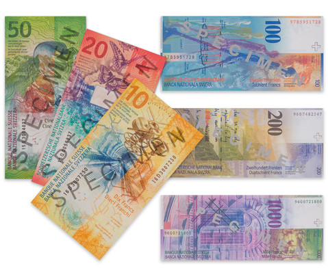 Rechengeld Schweizer Franken Banknoten