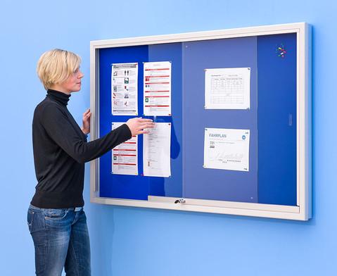 Info-Vitrine 100 cm breit mit Stahlrahmen 15 RAL-Farben