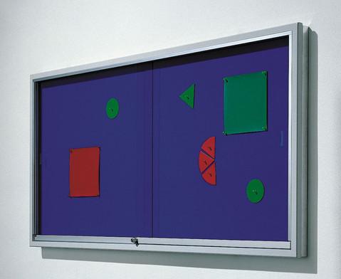 Info-Vitrine 195 cm breit mit Stahlrahmen 15 RAL-Farben