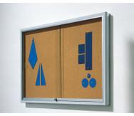 Info-Vitrine, 100 cm breit, mit Stahlrahmen (15 RAL-Farben)