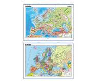 Wandkarte: Europa