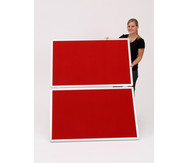 Geteilte Moderationstafel, rot