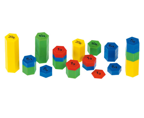 Farbige Gewichtsbausteine-1