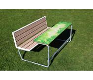 Einzeltisch grünes Klassenzimmer, Sitzflächen mit Holzeinsatz