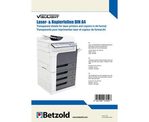 Visulight Kopier- und Laserfolien DIN A4