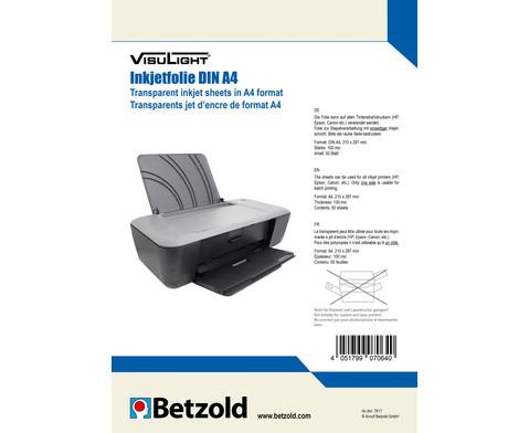 Visulight Folien fuer Tintenstrahldrucker - DIN A4