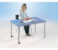 Varimax Rechteck-Tisch II fahrbar, höhenverstellbar von 58-72 cm