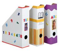 4 Stehsammler weiss aus Karton