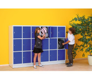 Schüler-Schliessfach-Schrank mit 9 Fächern