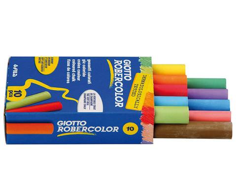 1 Faltschachtel mit 10 Robercolor-Kreiden rund farbig sortiert