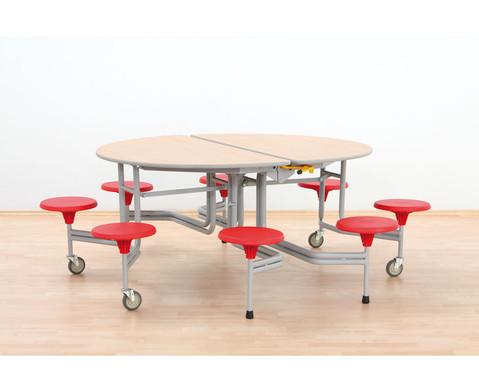 8er-Tisch-Sitz-Kombination oval Sitzhoehe 385 cm