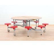 8er-Tisch-Sitz-Kombination oval, Sitzhöhe 43,5 cm