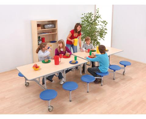 12er-Tisch-Sitz-Kombination rechteckigSitzhoehe 36 cm